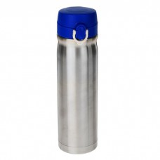 Термос «Хром», 500 мл, с синей крышкой