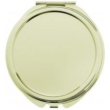 Зеркало компактное круглое под нанесение, без увеличения, цвет золотистый